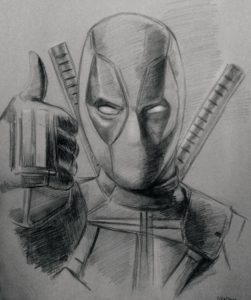 The Best Deadpool Drawing Pencil Easy Pencil Sketch Of Deadpool #drawing #art #deadpool #marvel | Anime In Photo