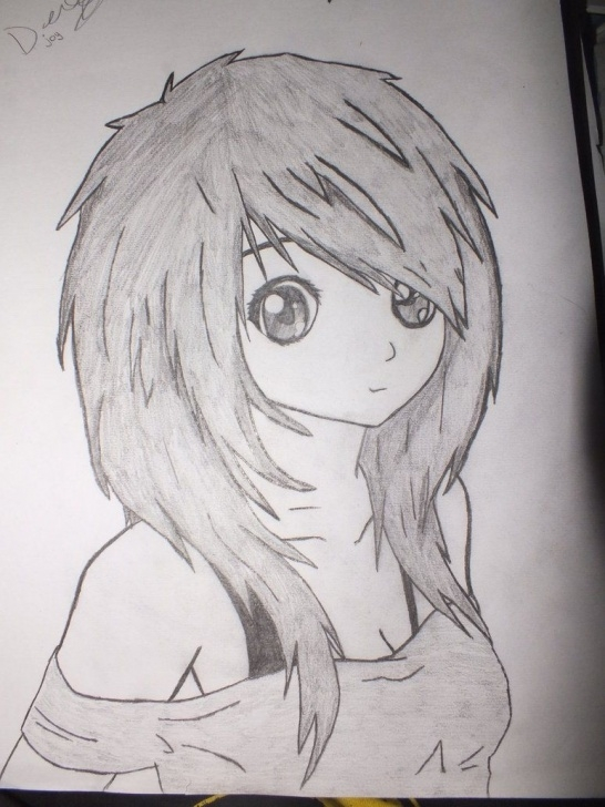 The Best Drawing Anime Pencil Simple Anime Girl | Depression Drawings | Anime Girl Drawings, Cute Girl Pics
