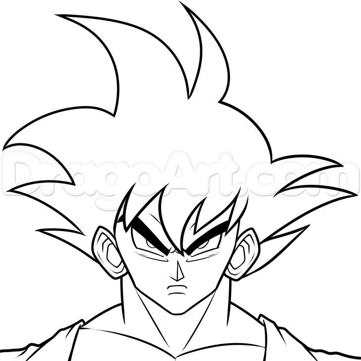 The Best Easy Goku Drawings In Pencil Techniques Step 8. How To Draw Dark Goku Photo