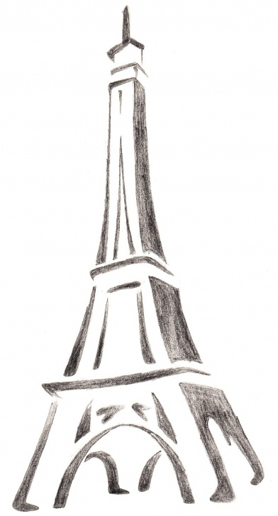 The Best Eiffel Tower Pencil Drawing Easy Eiffel Tower Sketch At Paintingvalley | Explore Collection Of Pictures