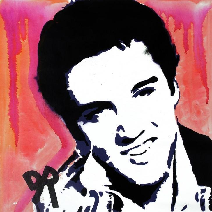 The Best Elvis Stencil Art Ideas Stencil Elvis Red Drip By Dean Russo Art Images