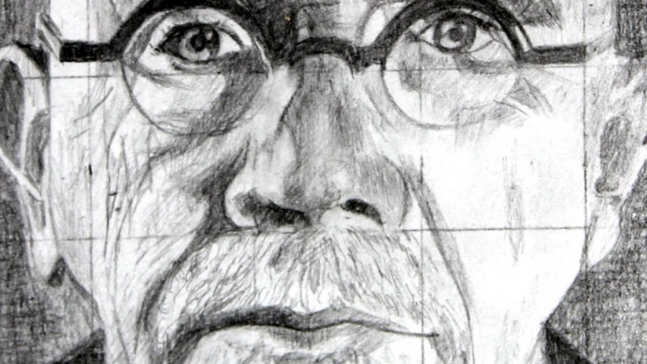 The Best Famous Observational Drawing Artists Lessons How To Use The Grid Method With A Drawing Of Chuck Close As An Example Image