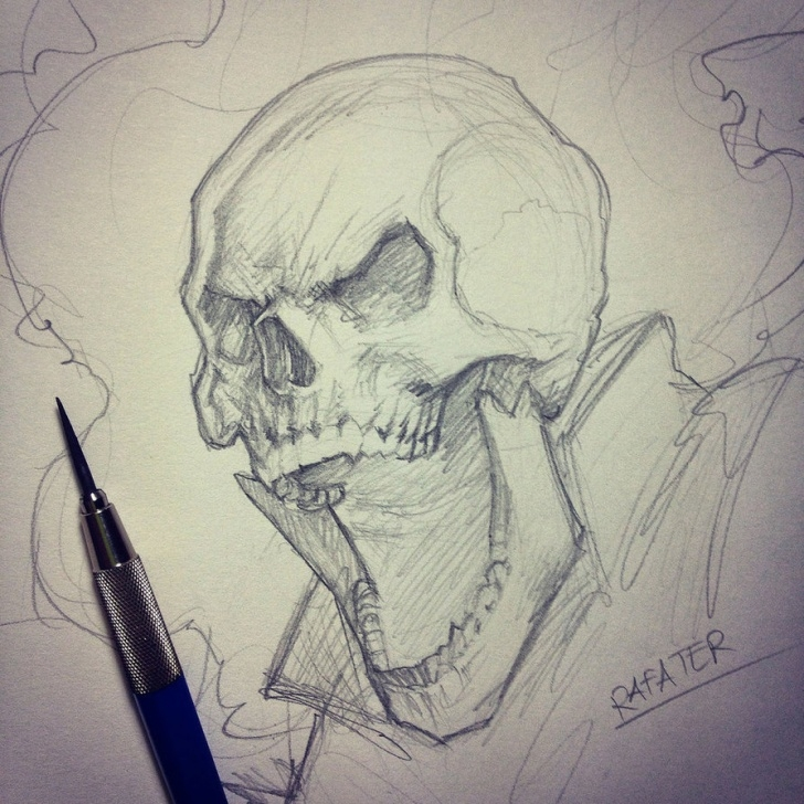 The Best Ghost Rider Drawings In Pencil Free Ghost Rider Sketch At Paintingvalley | Explore Collection Of Image