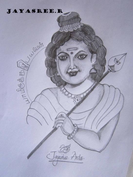 The Best God Pencil Drawing for Beginners Pencil Sketch Of God Murugan | Desipainters Pics