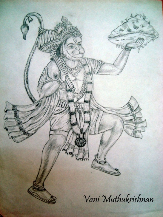 The Best Hanuman Pencil Art Tutorials Hanuman Pencil Sketch Images And Hanuman Pencil Sketch Lord Hanuman Photo