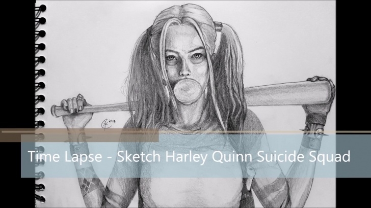 The Best Harley Quinn Pencil Drawing Easy Pencil Sketch Drawing - Harley Quinn From Suicide Squad Pictures