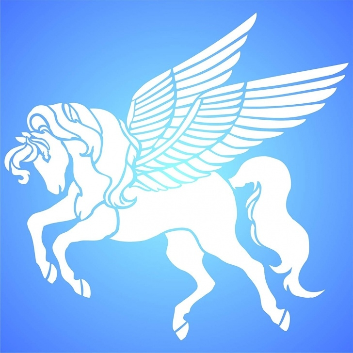 The Best Horse Wall Stencils For Painting Lessons Pegasus Stencil 16W X 14H Reusable Wall Stencils For Painting Best Quality  Flying Horse Ideas Use On Walls, Floors, Fabrics, Glass, Wood Photos