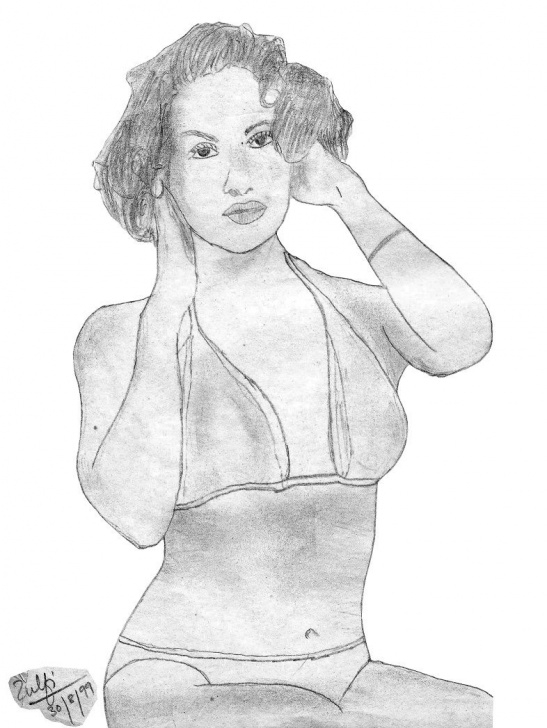 The Best Hot Pencil Sketches Tutorial Hot Indian Model In Bikini - Pencil Sketches | Art | Sketches Photos