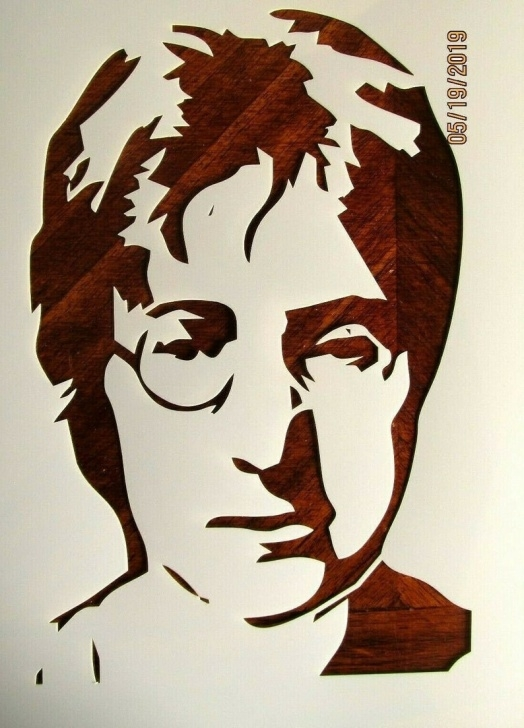 The Best John Lennon Stencil Art Simple John Lennon Stencil / Template Reusable 10 Mil Mylar Photos