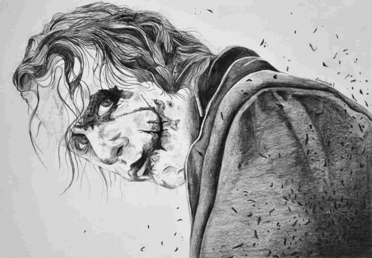 The Best Joker Pencil Drawing for Beginners Joker Pencil Drawing - Draw Pencil Photos