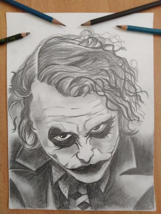 The Best Joker Pencil Sketch Simple Joker #thedarkknight #batman #dc #pencil #drawing : Drawing Photo