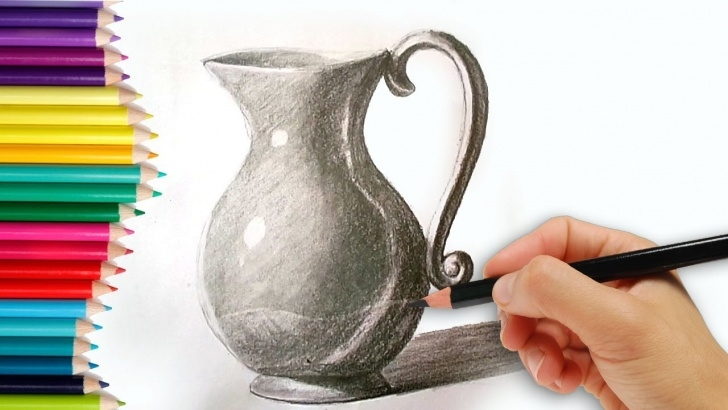 The Best Jug Pencil Drawing for Beginners How To Draw A Jug - How To Draw A Jug Step By Step Tutorial For Kids Learn  Drawing For Beginners Photos