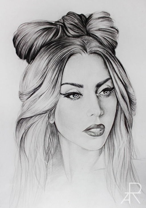 The Best Lady Pencil Sketch Simple Pencil Drawing Of Lady Gaga / More At: Www.facebook/modesta Picture