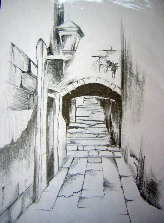 The Best Landscape Sketch Easy Ideas Landscape Drawings In Pencil   Pencil Drawing By Webgirla Images