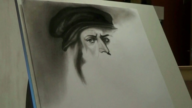 The Best Leonardo Da Vinci Pencil Drawings Easy Leonardo Da Vinci - Pencil Drawing Picture