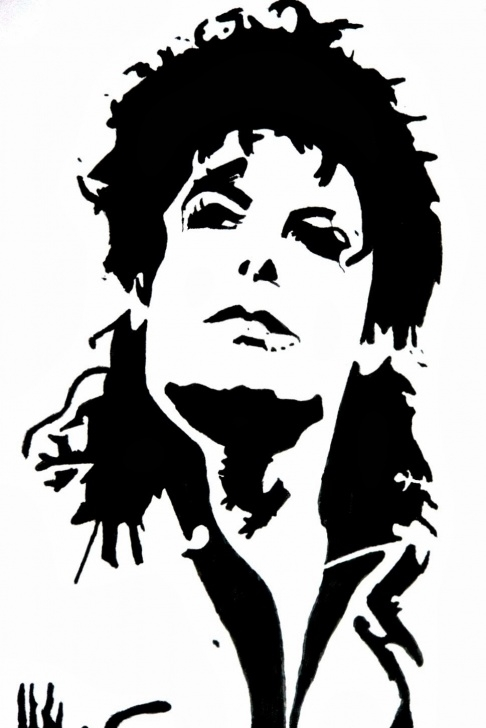 The Best Michael Jackson Stencil Art Step by Step Dg's Art Gallery: Michael Jackson Stencil Pics