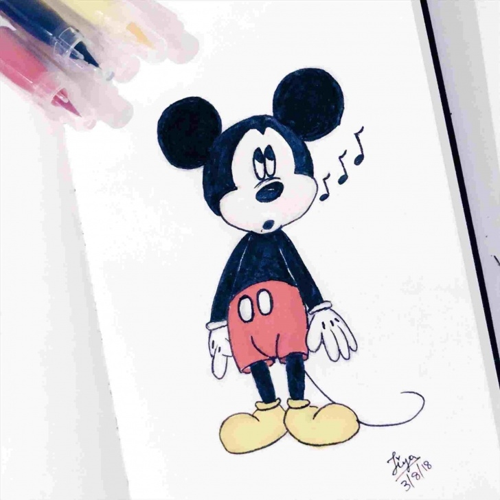 The Best Mickey Mouse Drawings In Pencil Free Pencil By Sonja On Drawings Pencil Pinterest Draw Disney Photos
