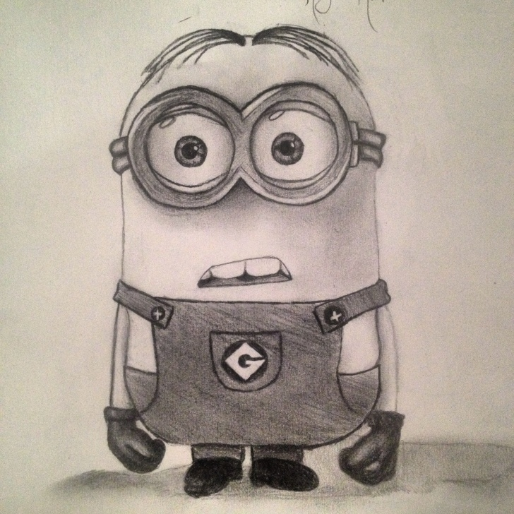 The Best Minions Pencil Drawing for Beginners Late Night Minion Drawing:) So Cute | My Art | Minion Drawing, Art Photos
