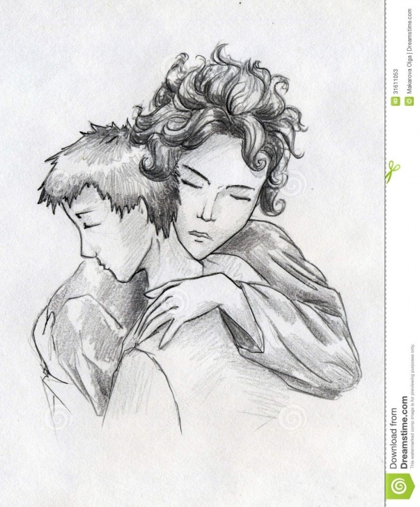 The Best Mother And Son Pencil Drawing Ideas Mother And Son Stock Illustration. Illustration Of Women - 31611053 Pic