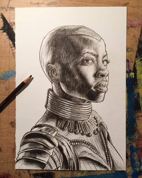The Best Pencil Crayon Drawings for Beginners Pencil Crayon Drawing Of General Okoye Drawn By Simon Raskina Https Images