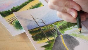The Best Pencil Crayon Drawings Tutorial Pencil Crayon Landscapes | A Personal Art Project Image