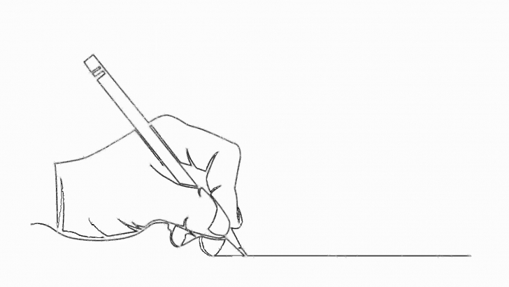 The Best Pencil Line Art Courses Continuous Line Drawing Of Hand Holding Pencil Writing Motion Background -  Storyblocks Video Photo