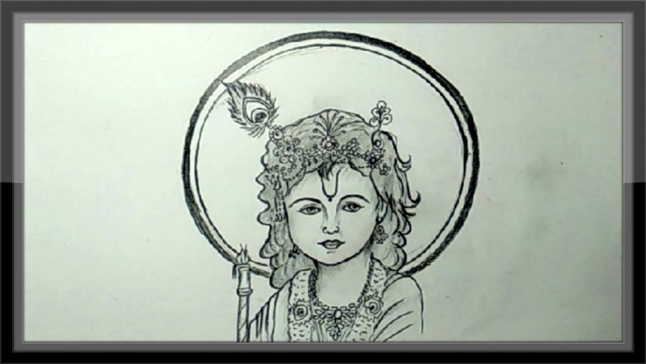 The Best Pencil Shade Drawing Of Krishna Step by Step Pencil Drawing - How To Draw Lord Krishna Step By Step - Youtube Photo