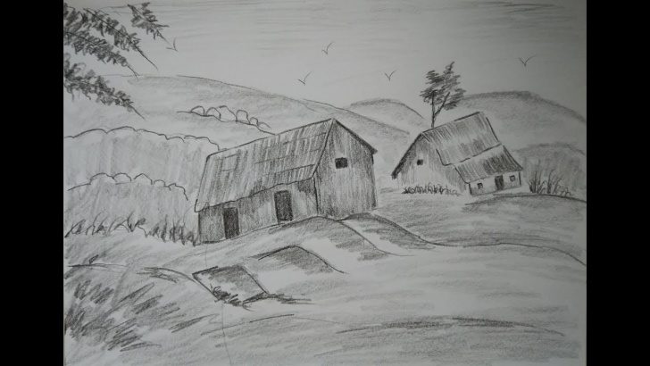 The Best Pencil Shading Drawings Nature Free How To Draw Nature Drawing For Beginners/ Pencil Shading /learn How To Draw  Beautiful Scenery Picture