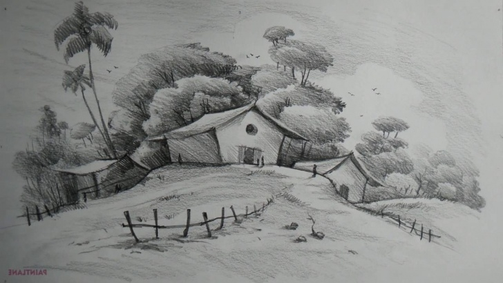The Best Pencil Shading Drawings Scenery Techniques Simple Pencil Drawings Of Landscapes And Easy Pencil Shading Drawing Images