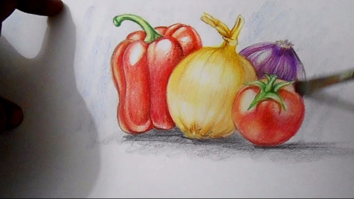 The Best Pencil Shading Of Vegetables Ideas How To Draw And Shade Vegetables Picture
