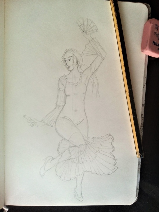 The Best Pencil Sketch Of Dancing Girl Free My Sketch Book: Pencil Sketches Pic