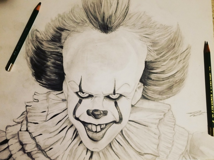 The Best Pennywise Pencil Drawing Techniques Pennywise Sketch At Paintingvalley | Explore Collection Of Pic