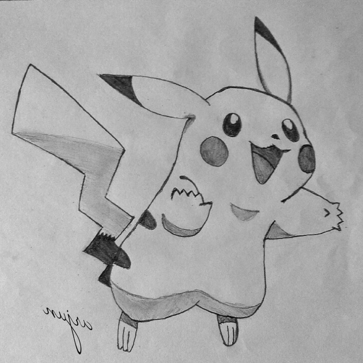 The Best Pokemon Drawings In Pencil Easy Lessons Pikachu Pencil Sketch And Easy Creative Pencil Drawings How To Draw Image