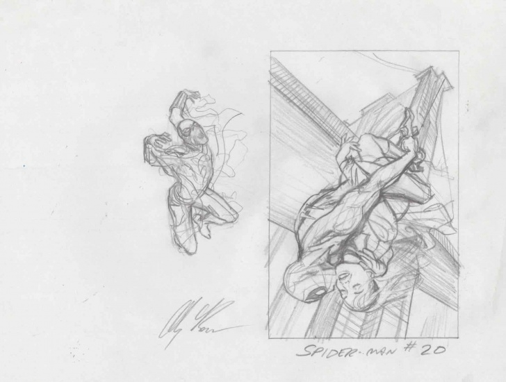The Best Rough Pencil Sketches Easy Alex Ross The Amazing Spider-Man #20 Rough Sketch Photos