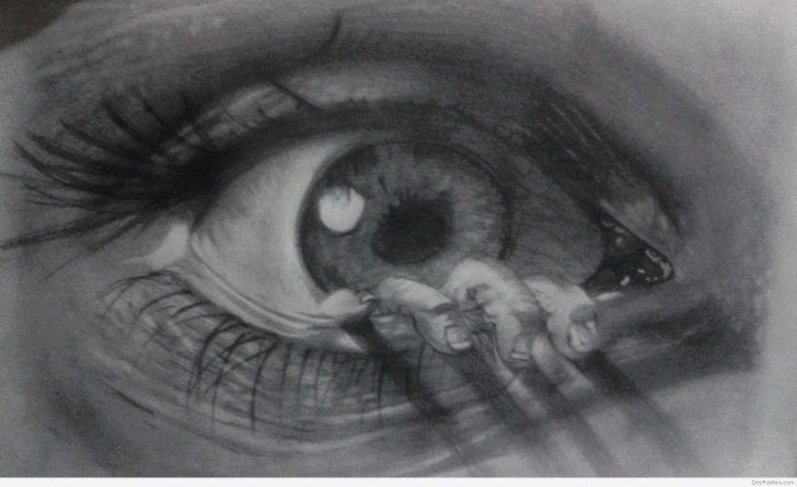 The Best Scary Pencil Drawings Tutorial 3D Pencil Sketch Of Scary Eye | Desipainters Photo