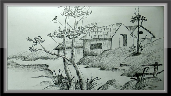 The Best Shading Drawing Of Nature Tutorial Easy Pictures To Draw - Landscape Drawing Nature In Pencil Image