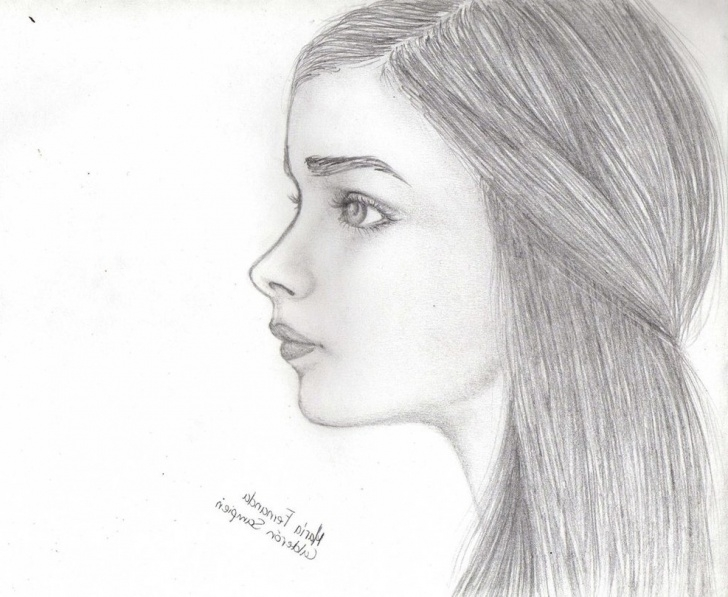 The Best Side Portrait Drawing for Beginners Side View Face Sketch At Paintingvalley | Explore Collection Of Pics