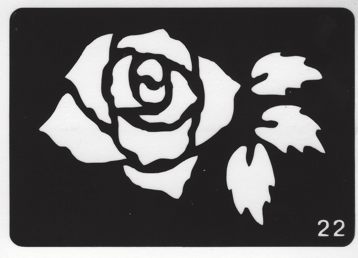 The Best Stencil Art Rose Free Reusable Body Art Stencil Pictures