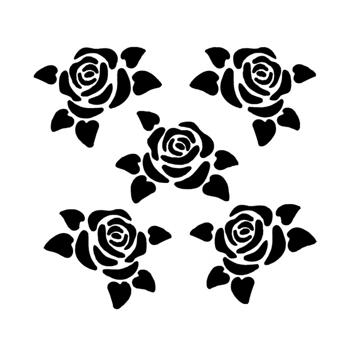 The Best Stencil Art Rose Simple Us $0.35 16% Off|1Pc Small Rose Flower Shaped Reusable Stencil Airbrush  Painting Art Diy Home Decor Scrap Booking Album Crafts Free Shipping On Pic