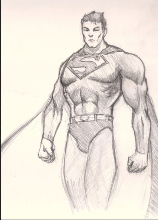 The Best Superman Drawing In Pencil for Beginners Pinterest Image