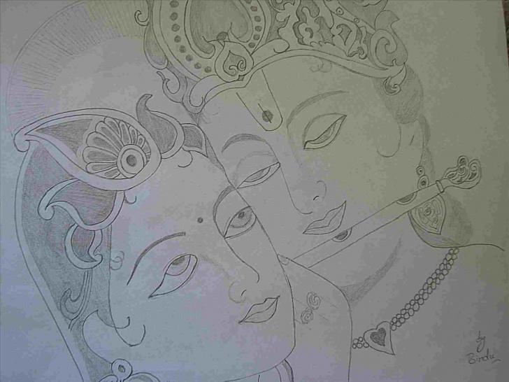 The Best Vitthal Pencil Sketch Tutorials Cute Krishna Drawings Pencil Pics