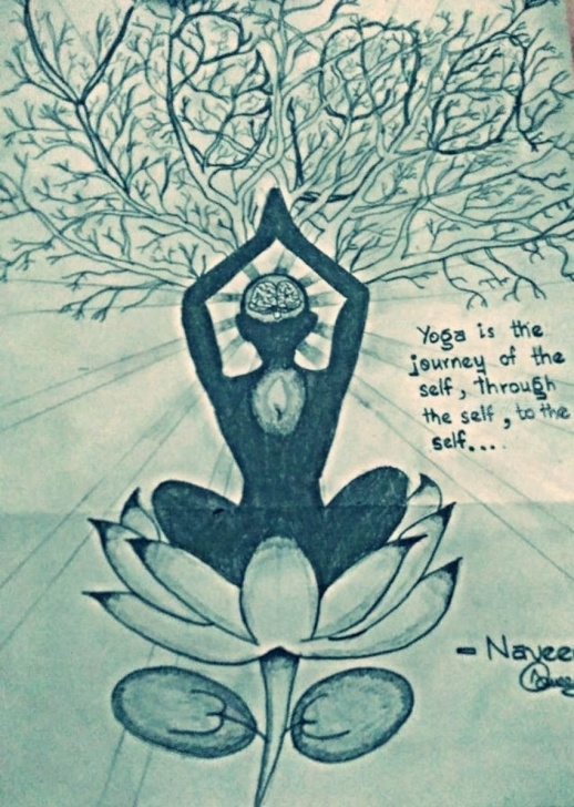The Best Yoga Pencil Drawing Lessons Yoga Drawings / Sketch By Naveen Kumar - Artist Images