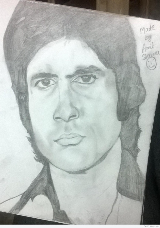 The Complete Amitabh Bachchan Pencil Sketch Step by Step Pencil Sketch Of Amitabh Bachchan | Desipainters Pictures