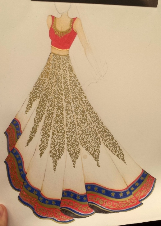 The Complete Anarkali Dress Pencil Sketch Step by Step Sketches For Anarkalis - Google Search | Croqui In 2019 | Fashion Images