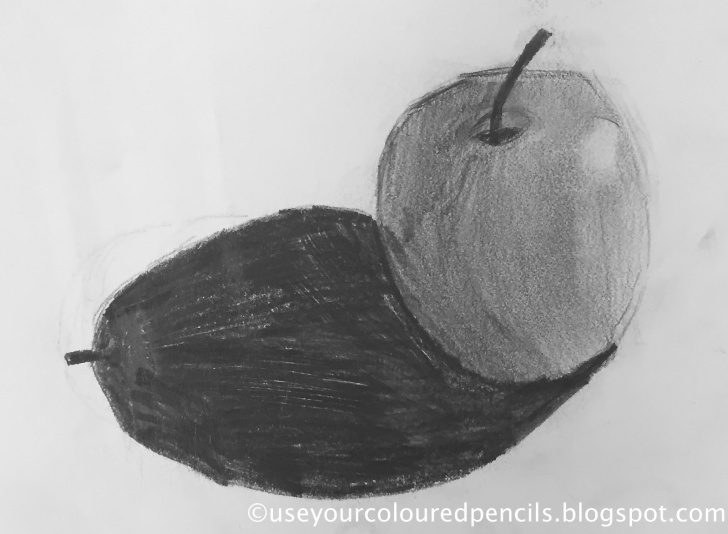 The Complete Apple Still Life Drawing Techniques for Beginners Use Your Coloured Pencils: Still Life Apple Drawings Photos