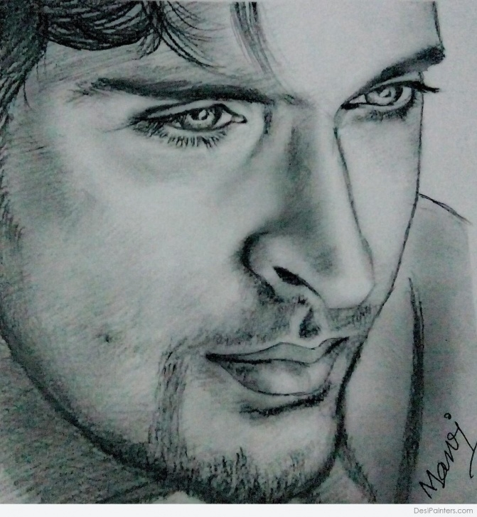 The Complete Attractive Pencil Drawings Free Attractive Pencil Sketch Of Hrithik Roshan | Desipainters Pictures