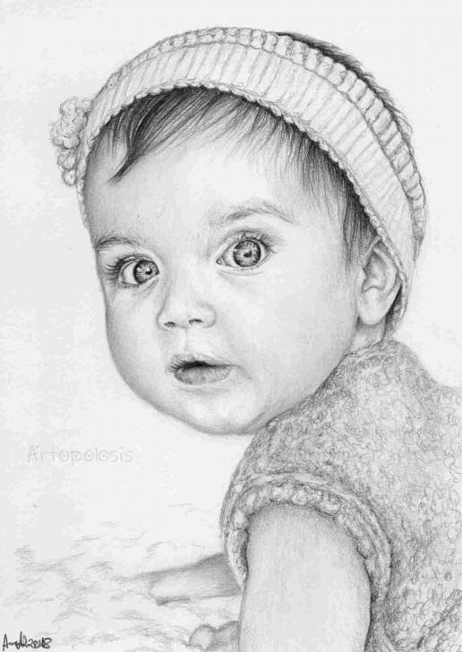 The Complete Baby Pencil Sketch Courses Kid-Pencil-Drawings-Of-Cute-Babies-Baby-Girl-Child-Drawing-Art Pictures
