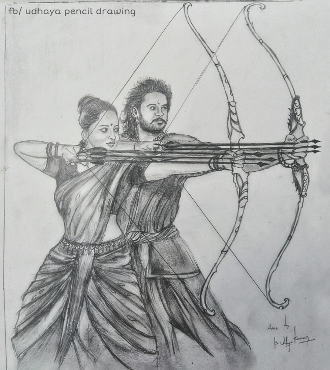 The Complete Bahubali 2 Pencil Sketch Tutorial Baahubali Drawing, Pencil, Sketch, Colorful, Realistic Art Images Pictures