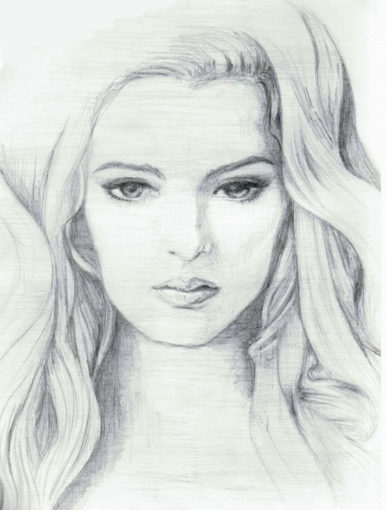 The Complete Beautiful Girl Face Sketch Step by Step Pin By Alesia Leach On Black And White Sketches | Pencil Sketches Of Image