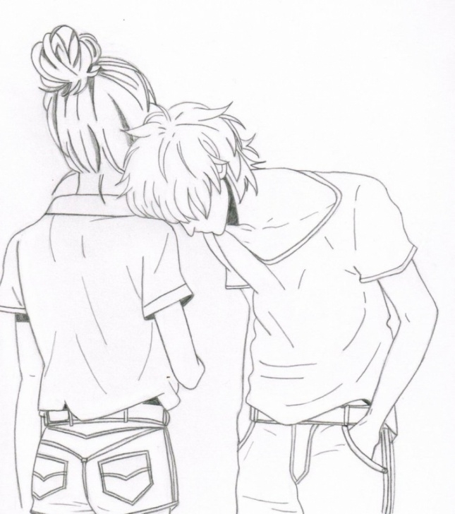 The Complete Best Couple Sketch Step by Step Cartoon Couple Sketch At Paintingvalley   Explore Collection Of Photos